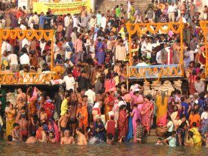 River festival on the Ganges in Varanasi